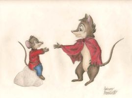 Art Trade: Fievel +Mrs. Brisby by ZevironMoniroth