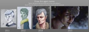 Draw this again 2011 to 2015 by TobyFoxArt