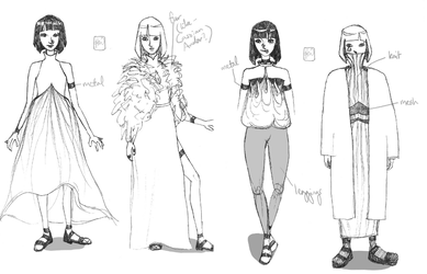 Fashion sketches by glimmer22