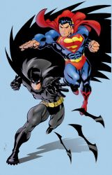 superman and batman by Colorzoo