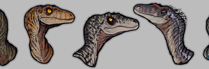 Jurassic Park Raptors by GoldenNove
