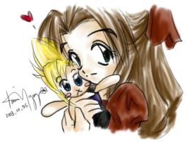 Cloud and Aeris 2 by kurosu