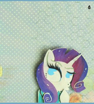 My Little Selfies Series - Rarity. by MonotoneInkwell