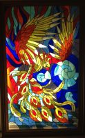 Stained glass Bird - Phoenix by Art-Brother