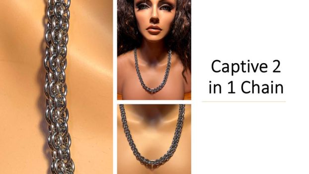 Captive 2 in 1 Chain Necklace by graywolfsmaille
