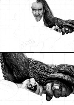 Thorin Oakenshield - progress by Red-Szajn