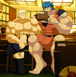 Commission - General Blue and Toriko by mindloop
