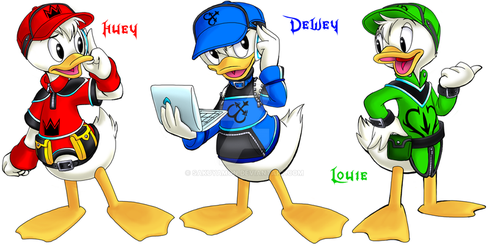 KH HOD Huey, Dewey and Louie by Sakuyamon
