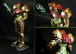 Samus Aran Varia Suit Scuplt by The-Stuffitect