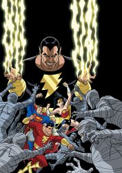 Justice League vs. Black Adam - cover by TimLevins