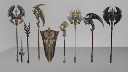 MMD Download: Tera Weapons Pack 2 by Drysmath