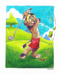 Golfing with Nbowa by pandapaco