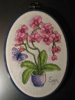 Cross Stitch Orchids Finished by Santian69