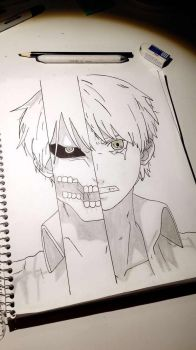 Eren from attack on titan drawing by sydkatxoxo