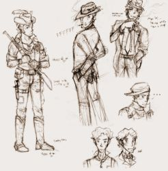 mobster character sketches by mistress-samwise