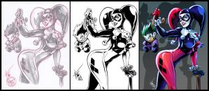 Harley Quinn Process by HedwinZ89