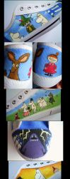Moomin shoes by Oceansoul7777