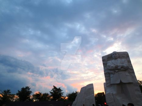 Lovely Sky at the Martin Luther King Jr. Memorial