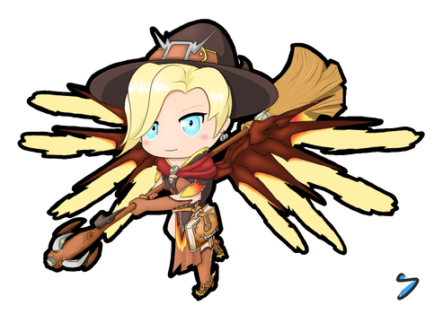 Mercy Chibi by I-see-no-Bottle