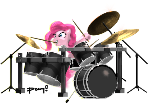 Pinkiedrums by ponyrake