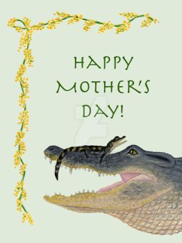 Mother's Day Alligator Card by IllustratedMenagerie