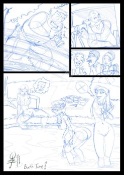 Jab style rough sketch sample page  by ujinko