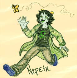 Homestuck: a Nep chasing a butterfly by NancyStageRat