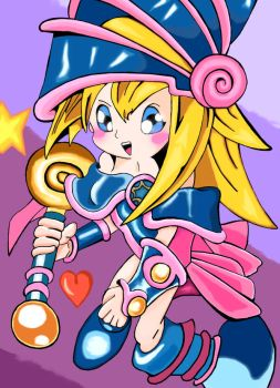 Dark Magician Toon Girl by Rexcalius