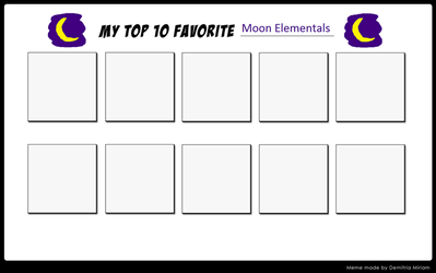 Top 10 Favorite Moon Elementals Meme by ajpokeman