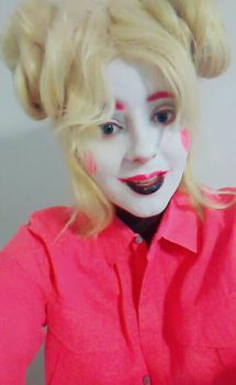 Funtime Chica Makeup Test by SkullQueen13