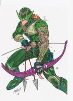 Green Arrow Hawkeye Amalgam by CerealGuy