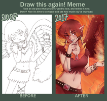 Draw this again meme - Fire angel by miyu96