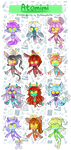 [Adopts]: Atomini Batch 3 [REDUCED Set Price] by SimplyDefault