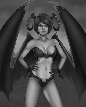 Succubus W.I.P. 3 by Cazareal