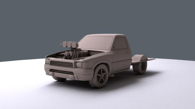 [WIP] Burnout car for mobile game by BatzStudio