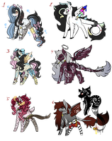 MLP Song Themed Adopts - AUCTION - CLOSED by Strays-Adopts
