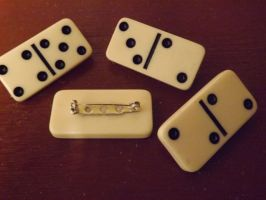 Domino Brooches by Pixie-Aztechia