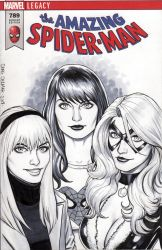 Mary Jane Watson, Gwen Stacy, Black Cat Cover by craigcermak
