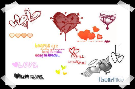 Hearts and 'heart' related txt by milfalicious
