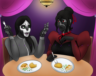 Commission - Dinner by NocturnallyLunar