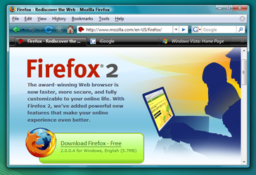 Firefox for Windows Vista 1 by contra