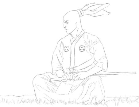 Usagi Yojimbo (sketch) by MJ-Daniels