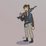 C is for Star Wars (Cassian Andor) by WonderDookie
