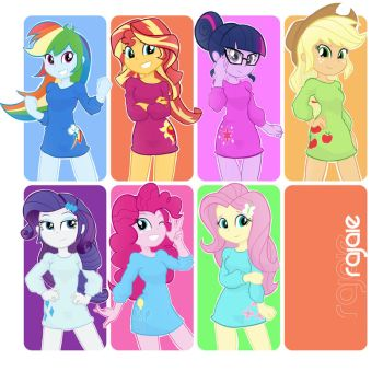 Main Equestria Girls by Rajaie