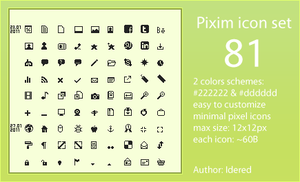 Pixim icon set by Idered