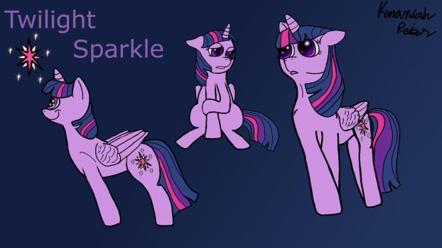 Twilight Sparkle Poses by FireHeartDraws
