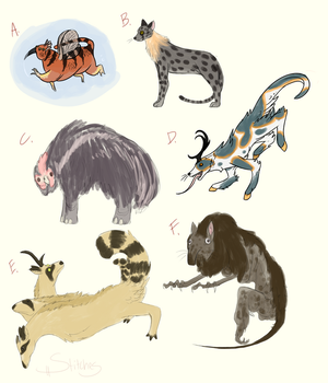 Fate Generated Critters by StitchesAndThePen