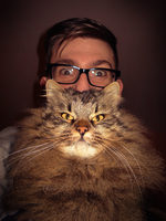 Stupid cat and me by zinghi