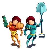 Samus n Shovel Comission by TheSnowZombie