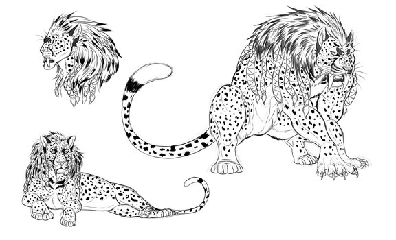 Pangaea: Leopard beasts by blueharuka